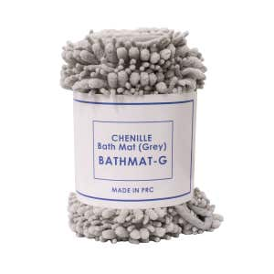 CHENILLE Bath Mat Grey