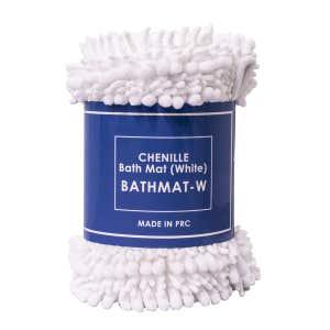 CHENILLE Bath Mat White
