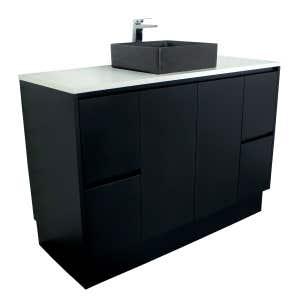 LYRA Floor Mount Vanity 1200mm Matte Black